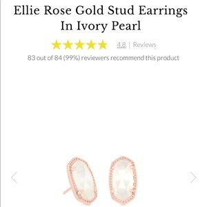 Kendra Scott Ellie rose gold stud earrings